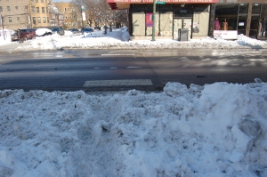 Devon and Washtenaw. None of the crosswalks are shoveled out.
