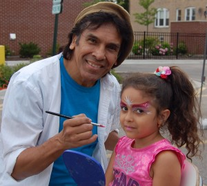 Joseph from Ludy Gerardi Facepainting, and happy client